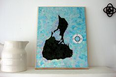 Block Island Block Island, Mosaic Art, Garden Art, Art Pieces, Batman, Moon, Studio, Artist, Painting