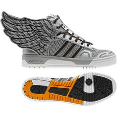 Men's Jeremy Scott Wings 2.0, metallic silver / radiant gold / black
