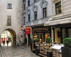Old Town cafe - Bratislava, Slovakia Old Town Cafe, Places Around The World, Around The Worlds, Danube River Cruise, Sidewalk Cafe, Bratislava Slovakia, By Train, Travel And Leisure, Travel Tips