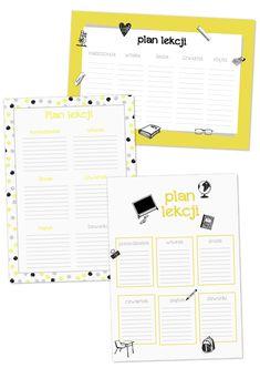 plan lekcji do druku Bullet Journal, School