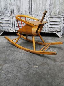 Teeter Totter Teetertot Baby Chair Vintage Wooden Toy Rocker