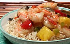 Teriyaki Shrimp Stir-fry with Pineapple and Peppers Recipe - Diabetic Recipes from Diabetic Gourmet Magazine