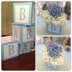 DIY Baby Block Centerpieces