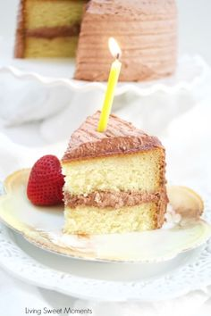 This delicious Diabetic Birthday Cake Recipe has a sugar free vanilla cake with sugar free chocolate frosting. A decadent and tasty dessert for everyone! Sugar Free Vanilla Cake, Sugar Free Chocolate, Chocolate Frosting, Sugar Cake, Cake Chocolate, Köstliche Desserts, Sugar Free Desserts, Delicious Desserts, Healthy Desserts