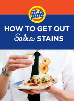 how to get out salsa stains