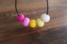 Frankie - polymer clay bead necklace