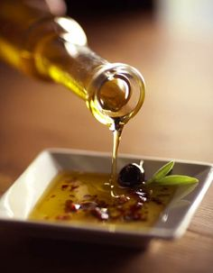 olive oil little balsamic vinegar , garlic and Italian seasoning and you gotta wonderful dipping sauce for your focaccia bread