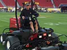 Putting a cut on the field at Levi's Stadium for Super Bowl 50