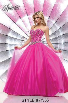 #prom #dress #promdress #sparkle #ballgown #pink