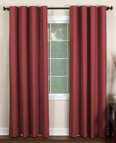 "Elrene Cachet Faux Silk 3-in-1 Window Panel 52"" x 84"" Brick Red"