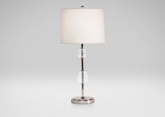 Ethan Allen - Ribbed Glass Ball Table Lamp