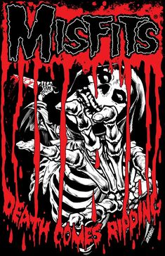 Misfits Death Comes Ripping Embroidered Patch Embroidered patches can either be sewn or ironed on Approx Art Room Posters, Rock Posters, Band Posters, Concert Posters, Misfits Band, The Misfits, Music Artwork, Metal Artwork, Misfits Wallpaper
