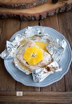 sandacz zapiekany z masłem waniliowym i pomarańczami #pikeperch #orange #dinner