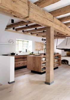 Current kitchen design for the year 2016 - 35 kitchen pictures - rustic kitchen modern country kitchen made of wood - Beautiful Kitchen Designs, Beautiful Kitchens, Kitchen Pictures, Cuisines Design, Küchen Design, Design Ideas, Wood Design, Modern Design, Chalet Design