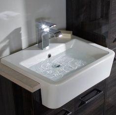 The Roper Rhodes Geo #Contemporary Semi-Countertop Basin. Recessed & Semi Recessed Basins from UK #Bathrooms. #Square