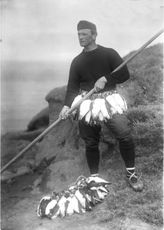 cool ballerina outfit Puffin-Hunter, Faroe Islands, c. 1900. Hey girl, you got a puffin problem? No worries, I got it. Submitted by fagraklett