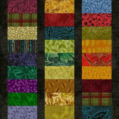 View Full-Size ~ Roman Stripes Quilt Block