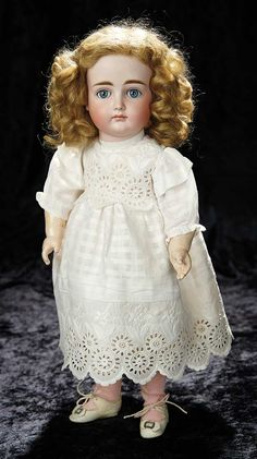 Soirée: Antique Dolls and Automata, May 14th: 76 German Bisque Closed Mouth Child, XII, by Kestner