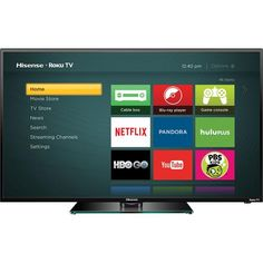 """Hisense - 40"""" Class (40"""" Diag.) - LED - 1080p - Roku TV - Front Zoom, reg.349.99 but sometimes on sale for  279.99.  It's actually a top brand in China, just newer to the US."""