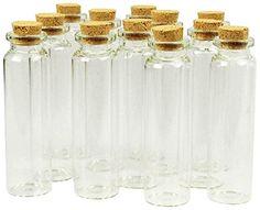 3-1/4-Inch Mini Glass Tube Bottles
