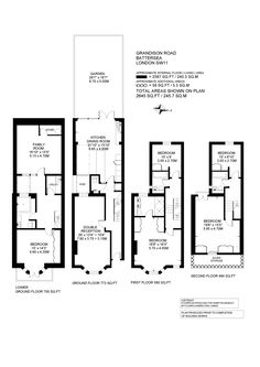 5 bed terraced house for sale in Grandison Road, London - 35372071 - Zoopla Loft Floor Plans, Craftsman Floor Plans, House Floor Plans, Edwardian House, Victorian Terrace, Victorian Homes, House Extension Plans, House Extension Design, House Design