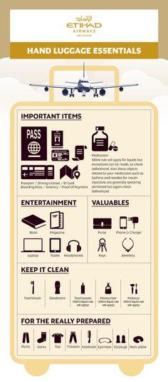 Infographic: Etihad's Hand Luggage Checklist