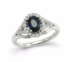 Image of Ring Cathy fav Sapphire Diamond, Charm Diamond, Beautiful Rings, Diamond Jewelry, Jewelery, Fashion Accessories, White Gold, Bling, Engagement Rings