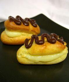 Low Fat Vanilla Pastry Cream and Mini Eclairs « Baking Bites