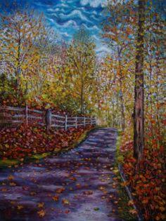 """Saatchi Art Artist Olga Knezevic; Painting, """"Autumn beauty"""" #art"""