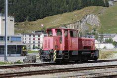Eine Diesel-Rangierlokomotive des Typs Tm 2/2. Eine Lok der gleichen Bauart ist…