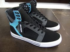 Supra Skytop Blk/Turquoise