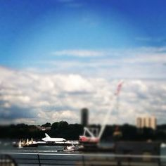 #Shuttle going by on the Hudson