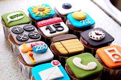Cellphone cupcakes