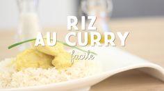 Recette du poulet au curry et son riz - CuisineAZ