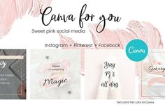 CFY - Sweet pink Social media by Creative Stash on @creativemarket