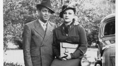 Cantinflas with Valentina Ivanova, his wife.