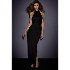 Rochii de seara - H360-1 Rochie lunga eleganta cu spatele gol si crapatura pe lateral