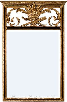 Black and Gold Trumeau Mirror