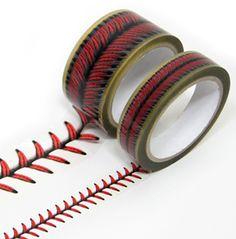 Baseball stitches design tape set