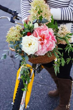 Bike Basket Florals