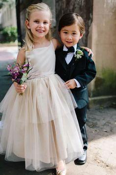 Flower girl and ring bearer Flower Girl Outfits, Lace Flower Girls, Flower Girl Bouquet, Flower Girl Pictures, Wedding Poses, Wedding Ideas, Wedding Pictures, Wedding Themes, Wedding Attire