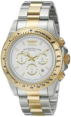 Men's Wrist Watches - Invicta Mens 18392 Speedway Analog Display Japanese Quartz Two Tone Watch ** Click image to review more details. (This is an Amazon affiliate link)