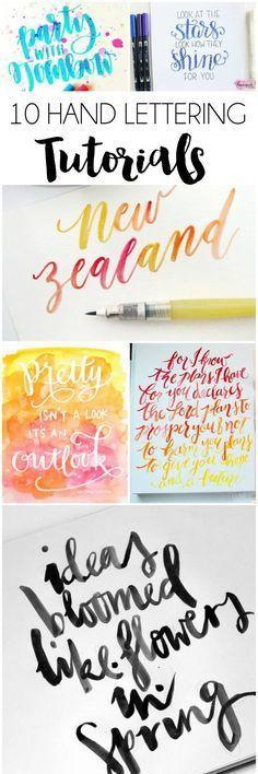 10+ Hand Lettering Tutorials | dawnnicoledesigns.com                                                                                                                                                      Más