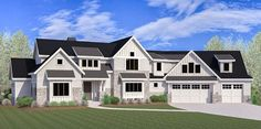 Craftsman House Plan with Optional Sports Court - 290050IY | Architectural Designs - House Plans