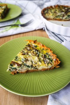 Spinach and Caramelized Onion Frittata With a Sweet Potato Crust | 27 Make-Ahead Breakfasts That Are Actually Good For You