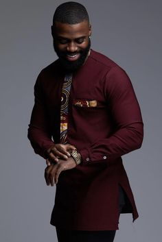 Ways men can rock their african prints stylish gwin africa african men African Shirts For Men, African Dresses Men, African Attire For Men, African Clothing For Men, African Wear, African Style, Traditional African Clothing, African Clothes, African Design