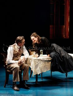 Oregon Shakespeare Festival. SEAGULL (2012): Al Espinosa and Kate Hurster. Photo: Jenny Graham.