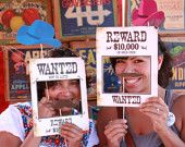 Wild West Printable PHOTO BOOTH PROPS Customizable - printable download pdf. $9.94, via Etsy.