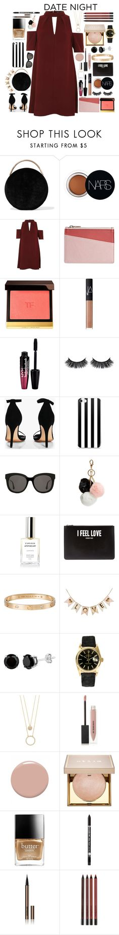 """""""Date Night"""" by catarinahoran21 ❤ liked on Polyvore featuring Eddie Borgo, NARS Cosmetics, Topshop, STOW, Tom Ford, Charlotte Russe, Battington, Boohoo, Gentle Monster and GUESS"""