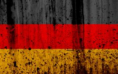 Download wallpapers flag of Germany, German flag, 4k, stone texture, grunge, Europe, Germany, national symbols, Germany national flag